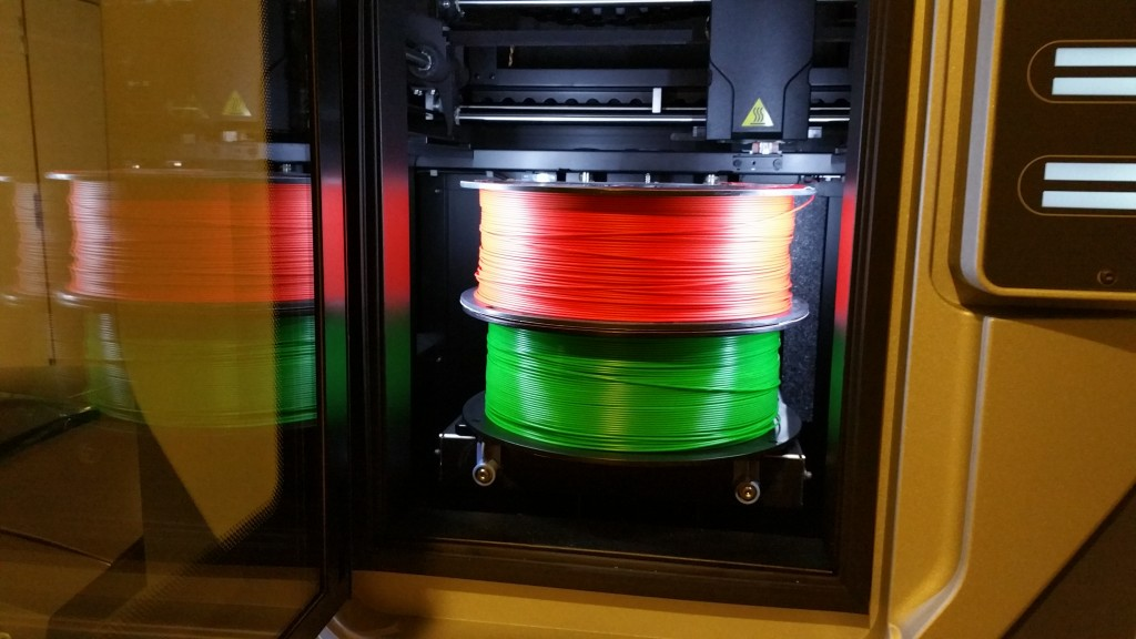 3D Printed Red and Green ABS parts for the Holidays! Materials in stock.